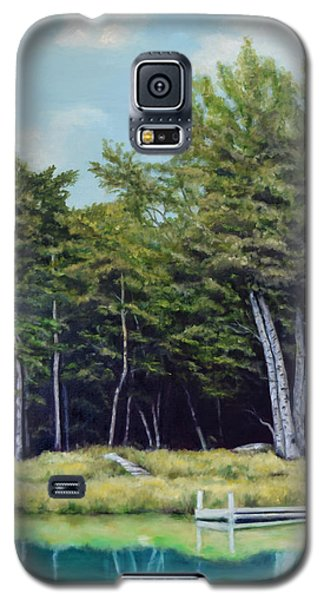 Galaxy S5 Case featuring the painting Reflections Of Birches by Sandra Nardone