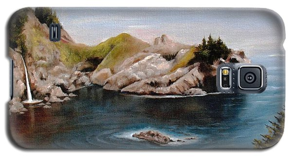 Galaxy S5 Case featuring the painting Reflections Of The Past by Hazel Holland