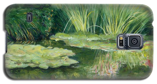 Reflections On Monets Lily Pond Galaxy S5 Case