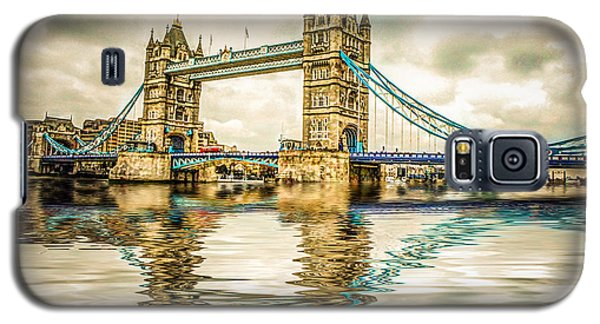 Reflections On Tower Bridge Galaxy S5 Case