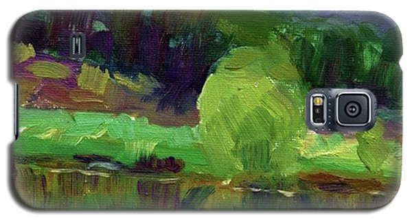 Colorful Galaxy S5 Case - Reflections Painting Study By Svetlana by Svetlana Novikova