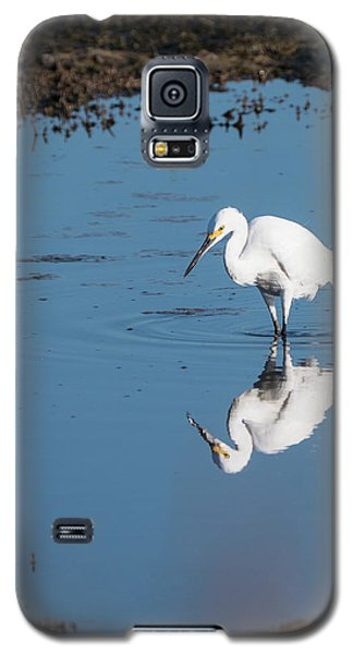Reflections White Egret Galaxy S5 Case