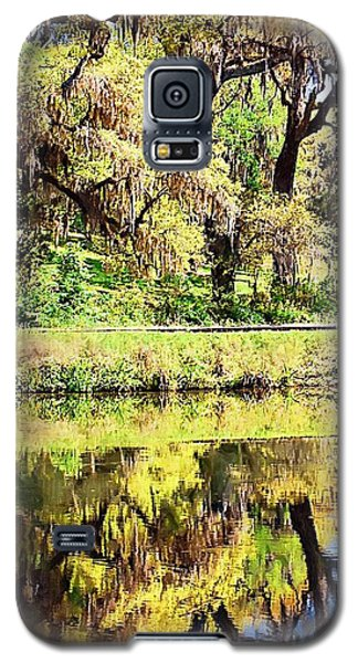 Galaxy S5 Case featuring the photograph Reflective Live Oaks by Donna Bentley