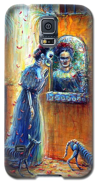 Galaxy S5 Case featuring the painting Reflejo De Frida by Heather Calderon