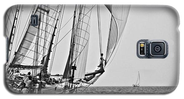 Regatta Heroes In A Calm Mediterranean Sea In Black And White Galaxy S5 Case