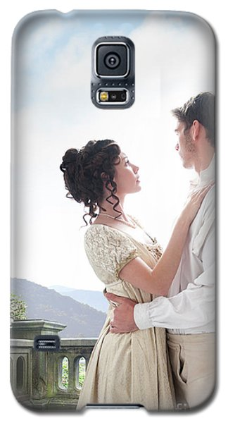 Regency Couple Embracing On The Terrace Galaxy S5 Case