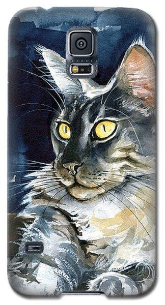 Regina - Maine Coon Painting Galaxy S5 Case
