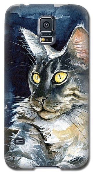 Regina - Maine Coon Painting Galaxy S5 Case
