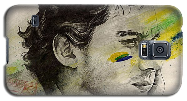 Sport Art Galaxy S5 Case - Rei Do Brasil - Tribute To Ayrton Senna Da Silva by Marco Paludet