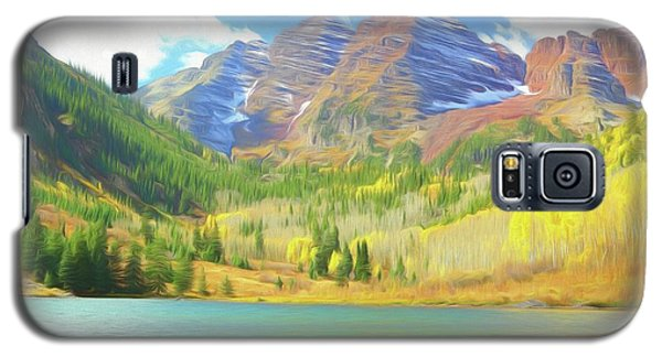 Galaxy S5 Case featuring the photograph The Maroon Bells Reimagined 1 by Eric Glaser