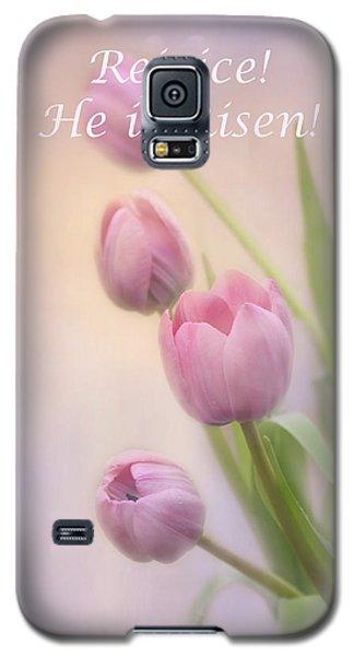 Galaxy S5 Case featuring the photograph Rejoice He Is Risen by Ann Bridges