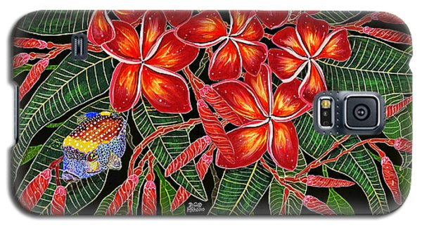 Galaxy S5 Case featuring the painting Tropical Fish Plumerias by Debbie Chamberlin