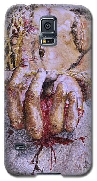 Galaxy S5 Case featuring the mixed media Remember Me by Sheron Petrie
