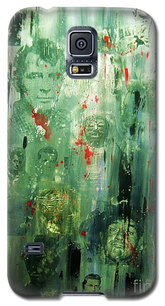 Galaxy S5 Case featuring the painting Remembering Kerouac by Roberto Prusso
