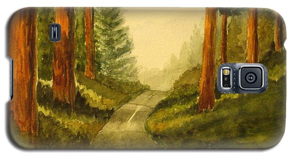Galaxy S5 Case featuring the painting Remembering Redwoods by Marilyn Jacobson