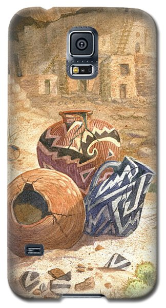Galaxy S5 Case featuring the painting Remnants Of The Ancient Ones by Marilyn Smith