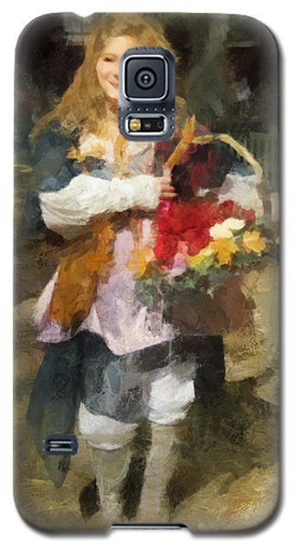 Renaissance Flower Lady Galaxy S5 Case by Francesa Miller