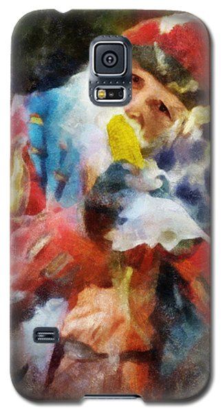 Galaxy S5 Case featuring the digital art Renaissance Man With Corn On The Cob by Francesa Miller