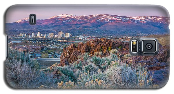 Galaxy S5 Case featuring the photograph Reno Nevada Spring Sunrise by Scott McGuire