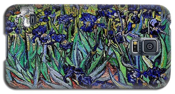 replica of Van Gogh irises Galaxy S5 Case by Pemaro