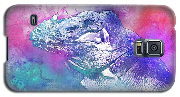 Galaxy S5 Case featuring the mixed media Reptile Profile by Jutta Maria Pusl