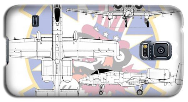 Galaxy S5 Case featuring the digital art Republic A-10 Thunderbolt II by Arthur Eggers