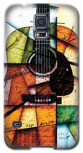 Guitar Galaxy S5 Case - Resonancia En Colores by Gary Bodnar