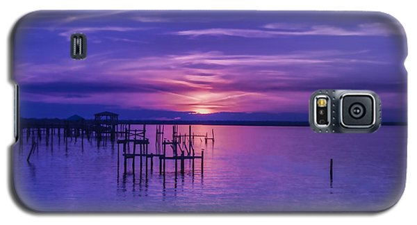 Rest Well World Purple Sunset Galaxy S5 Case