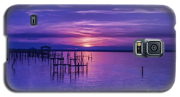 Rest Well World Purple Sunset Galaxy S5 Case