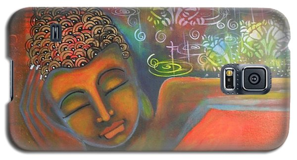 Buddha Resting Against A Colorful Backdrop Galaxy S5 Case