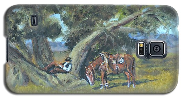 Resting Cowboy Painting A Study Galaxy S5 Case