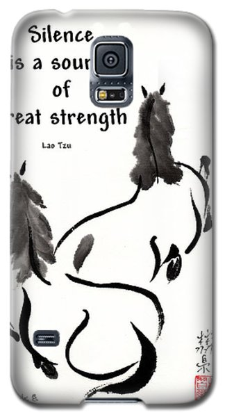 Galaxy S5 Case featuring the painting Retired With Lao Tzu Quote IIi by Bill Searle