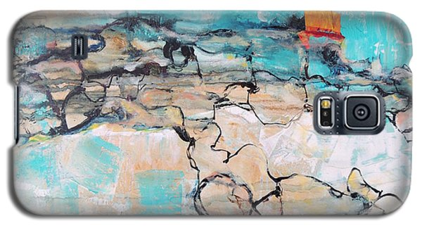 Galaxy S5 Case featuring the painting Retreat by Mary Schiros