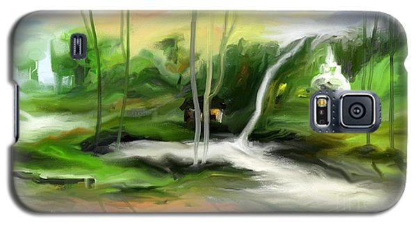 Galaxy S5 Case featuring the painting Retreat by Rushan Ruzaick