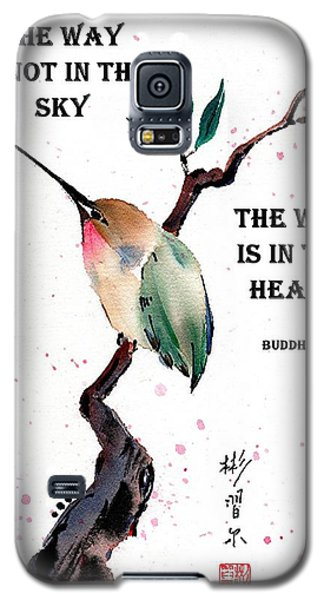 Retreat With Buddha Quote Galaxy S5 Case