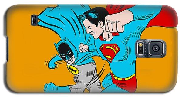Retro Batman V Superman Galaxy S5 Case