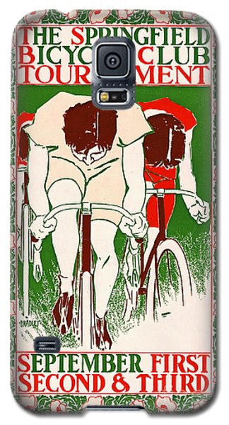 Galaxy S5 Case featuring the photograph Retro Bicycle Poster 1895 by Padre Art
