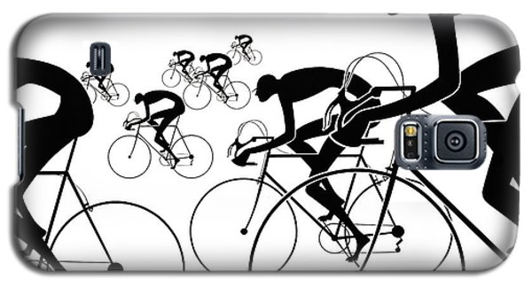 Galaxy S5 Case featuring the photograph Retro Bicycle Silhouettes 1986 by Padre Art