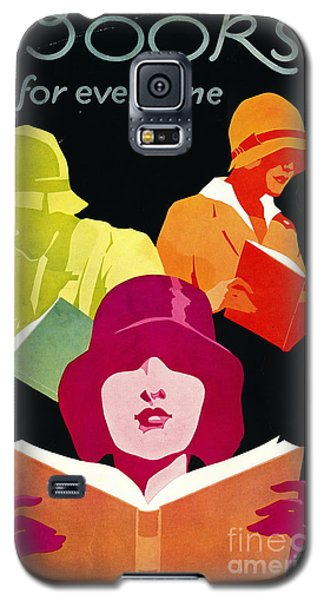 Galaxy S5 Case featuring the photograph Retro Books Poster 1929 by Padre Art