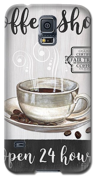 Galaxy S5 Case featuring the painting Retro Coffee Shop 1 by Debbie DeWitt