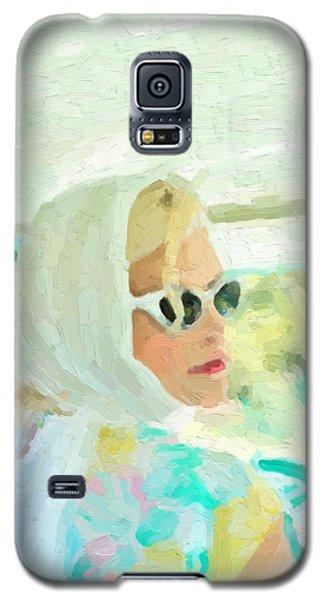 Galaxy S5 Case featuring the digital art Retro Girl - Road Trip No.1 by Serge Averbukh