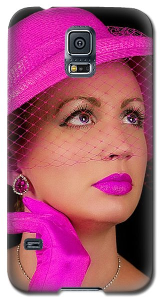 Retro Lady In Fuchsia Galaxy S5 Case