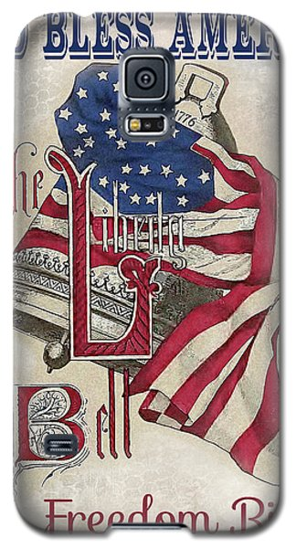 Galaxy S5 Case featuring the digital art Retro Patriotic-a by Jean Plout