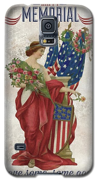 Galaxy S5 Case featuring the digital art Retro Patriotic-b by Jean Plout