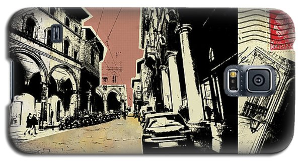 retro postcard of Bologna Galaxy S5 Case