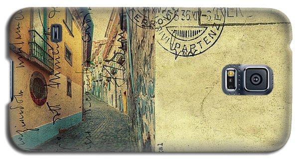 retro postcard of Porto, Portugal  Galaxy S5 Case