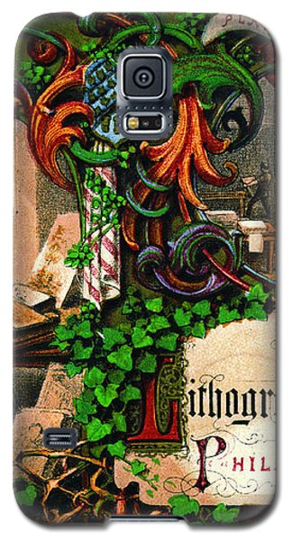 Galaxy S5 Case featuring the photograph Retro Printing Ad 1867 by Padre Art