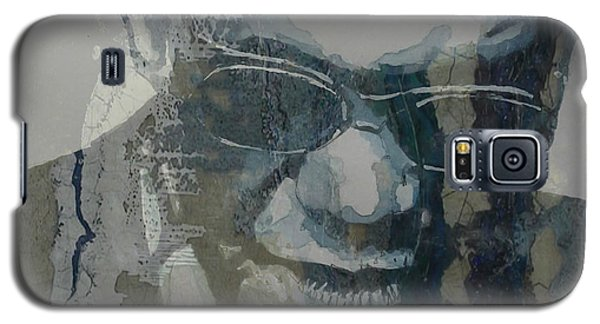 Galaxy S5 Case featuring the mixed media Retro / Ray Charles  by Paul Lovering