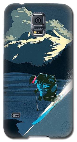 Retro Revelstoke Ski Poster Galaxy S5 Case