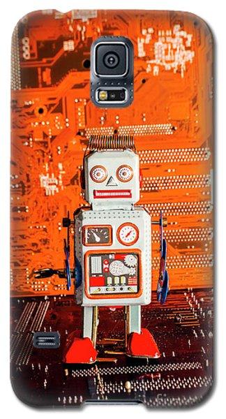 Retro Robotic Nostalgia Galaxy S5 Case